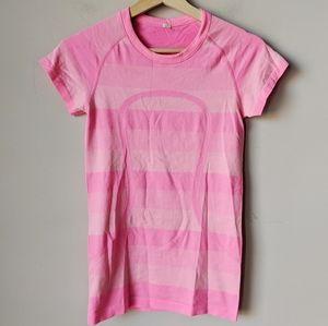 Lululemon Pink Swiftly Tech Short Sleeve Tee Sz 4